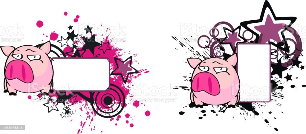 little pink pig cartoon copy space set royalty-free little pink pig cartoon copy space set stock vector art & more images of cartoon