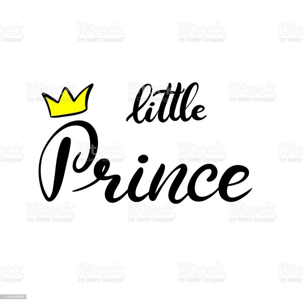 Kleine Prins Belettering Vector Illustratie Stockvectorkunst En Meer Beelden Van Alfabet