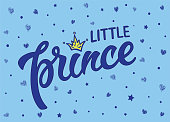 Little prince text with crown.