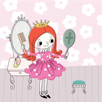 Little Princess Dresses up.