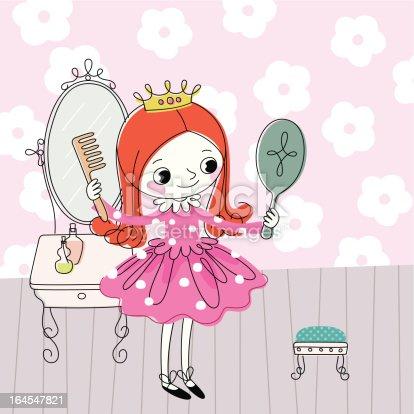 istock Little Princess Dresses up. 164547821