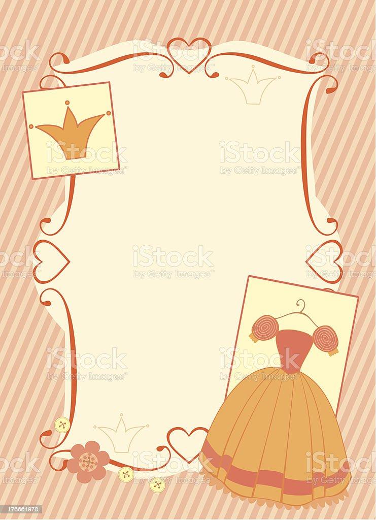 little princess bastidor ilustración de little princess bastidor y más banco de imágenes de alegre libre de derechos