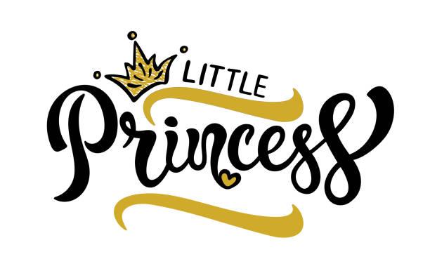 illustrazioni stock, clip art, cartoni animati e icone di tendenza di little princess poster design. - principessa