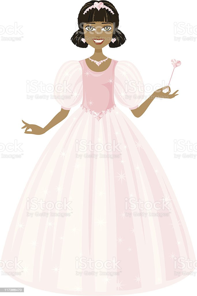 Little Princess vector art illustration