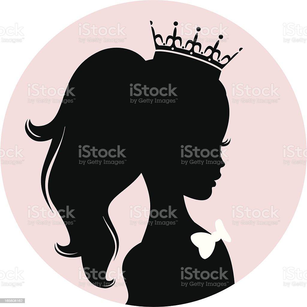 Little Princess royalty-free stock vector art