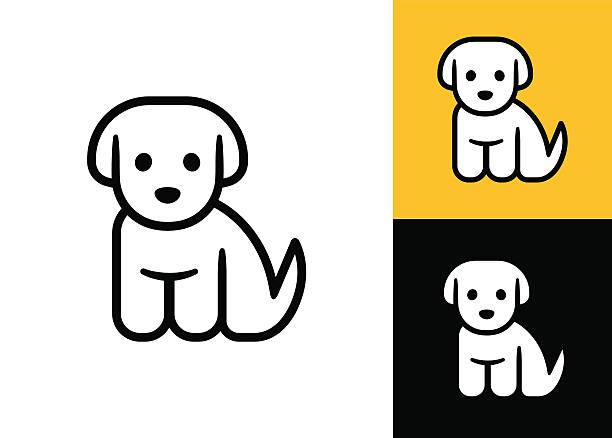 bildbanksillustrationer, clip art samt tecknat material och ikoner med little puppy icon - valp