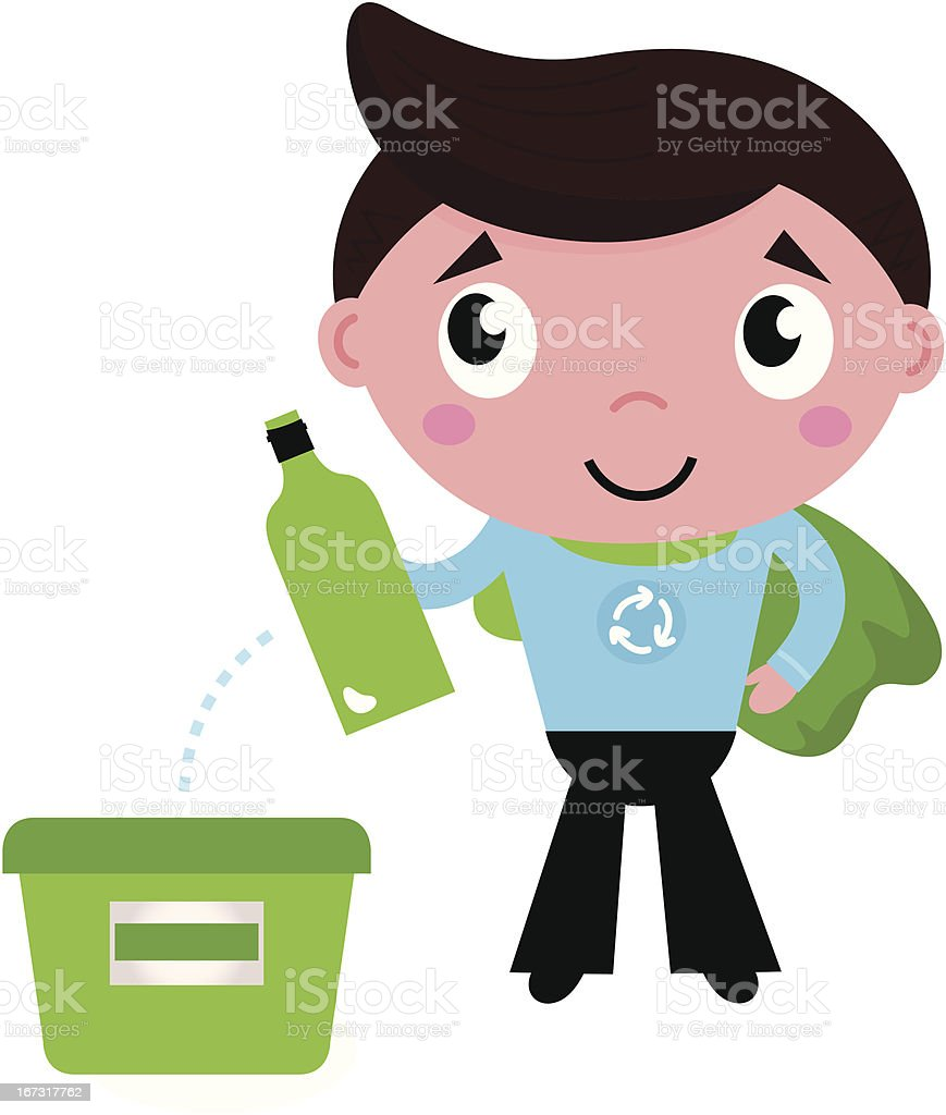 Little recycle super hero recycling garbage isolated on white royalty-free little recycle super hero recycling garbage isolated on white stock vector art & more images of adult