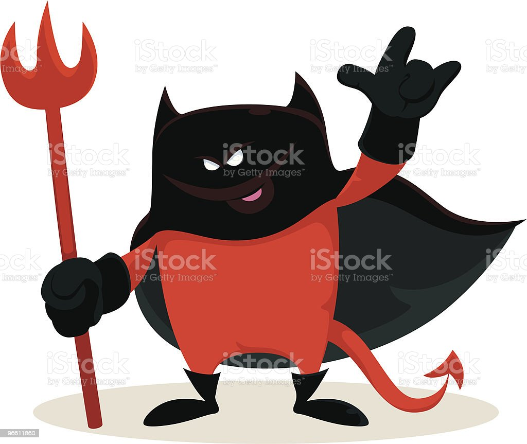 little red devil - Royalty-free Arms Raised stock vector