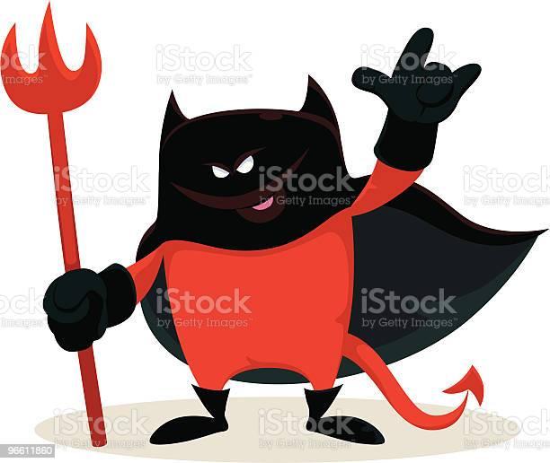 Маленький Красный Дьявол — стоковая векторная графика и другие изображения на тему Без людей