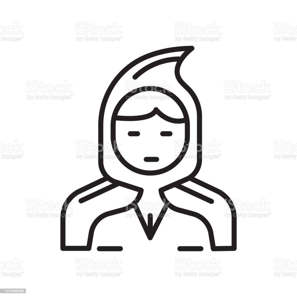 Kleines Red Riding Hood Icon Vector Zeichen Und Symbol Isoliert Auf