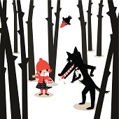 Little red riding hood&the wolf.