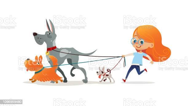 Little redhead girl walking three dog on leash cute child running vector id1096959480?b=1&k=6&m=1096959480&s=612x612&h=tvmmpjecuoif4fjwb6sxce10flwgvptrxcvsr z0rd4=