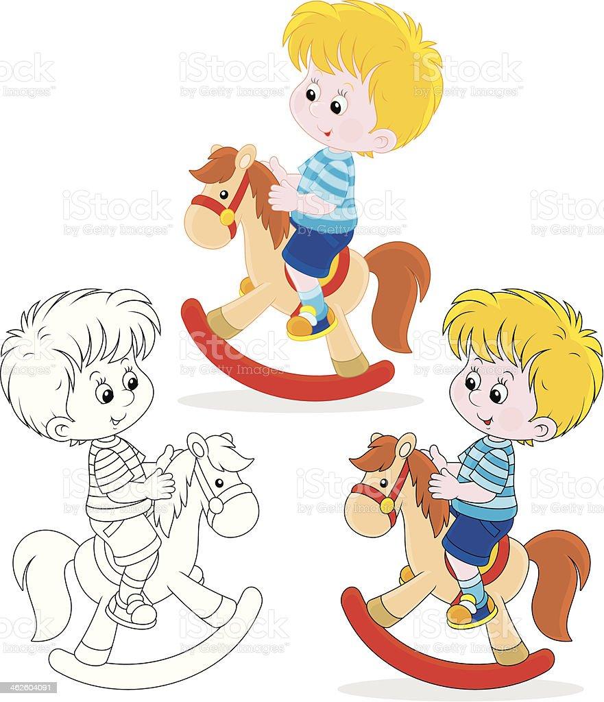 Little rider vector art illustration