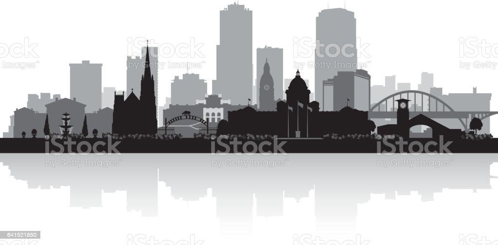 Little Rock Arkansas city skyline silhouette vector art illustration