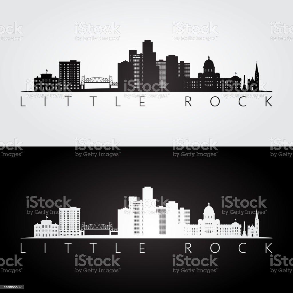 Little Rock, USA skyline and landmarks silhouette, black and white design, vector illustration. vector art illustration