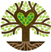 A little round graphic tree with the branches forming a heart shape.