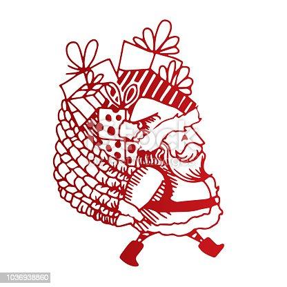 istock Little Santa illustration 1036938860