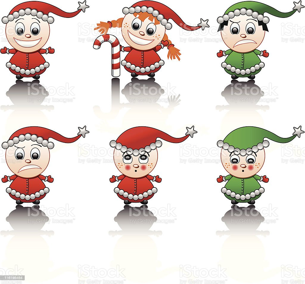 Little Santa's helpers smile set royalty-free little santas helpers smile set stock vector art & more images of 2008