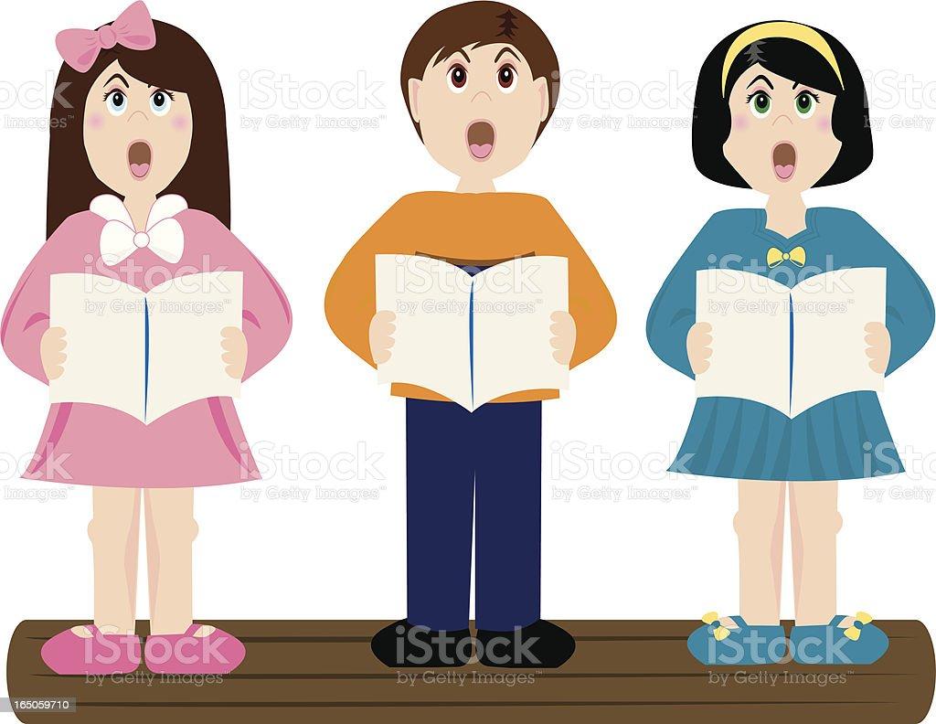 Little Singers royalty-free stock vector art