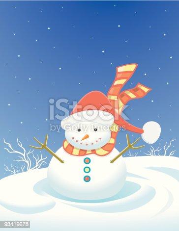 istock Little snowman / bonhomme de neige 93419678