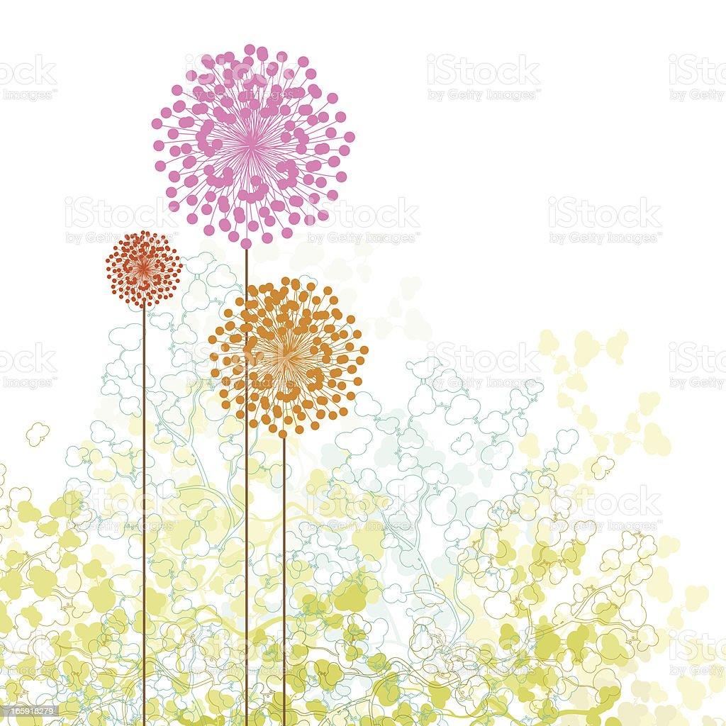 Little spring garden vector art illustration