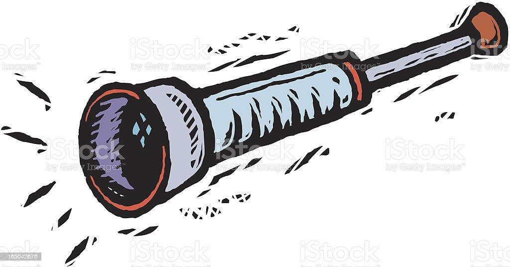 Little telescope vector art illustration