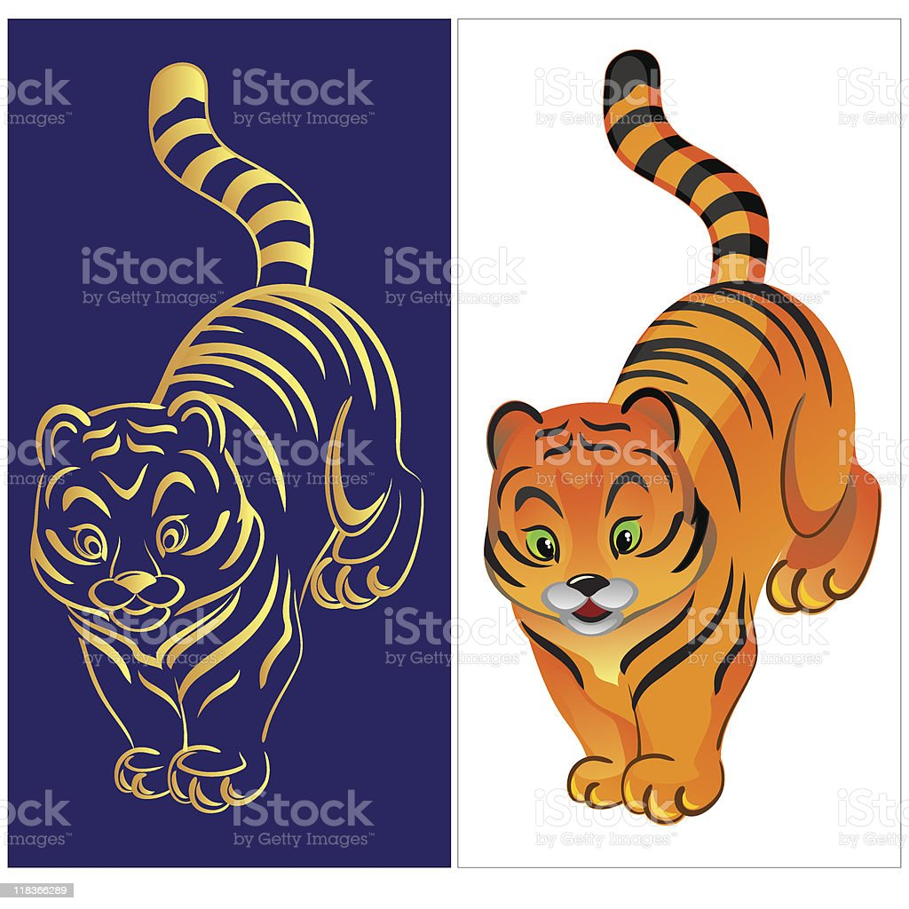 Little tiger royalty-free little tiger stock vector art & more images of animal