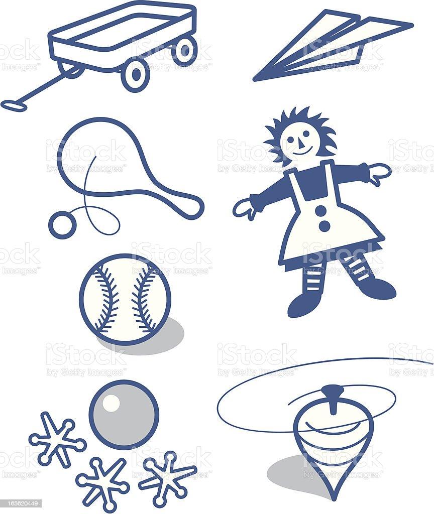 Little toys vector art illustration