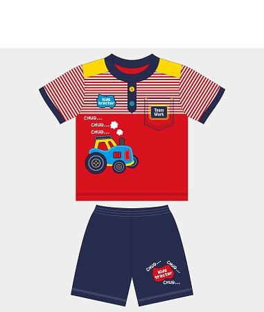 Little tractor for t shirt vector illustration.