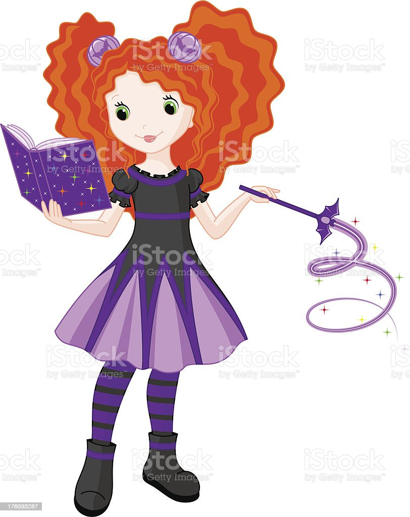 Little Witch royalty-free little witch stock vector art & more images of black color