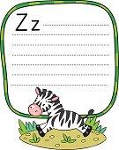 Little Zebra for ABC. Alphabet Z