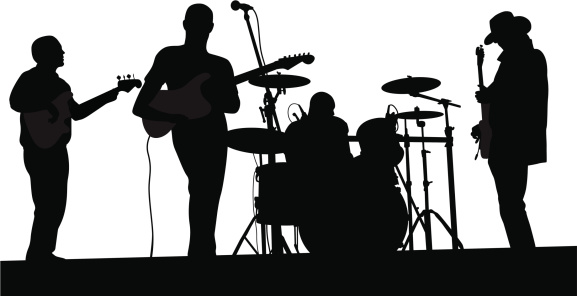 Live Band Vector Silhouette