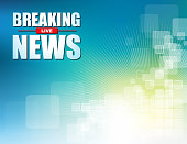Illustration vector of Live Breaking News headline in colorful background. EPS Ai file format.