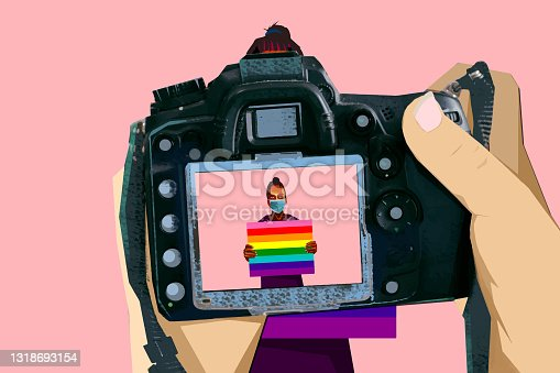 istock Live broadcast of the Pride Parade 1318693154