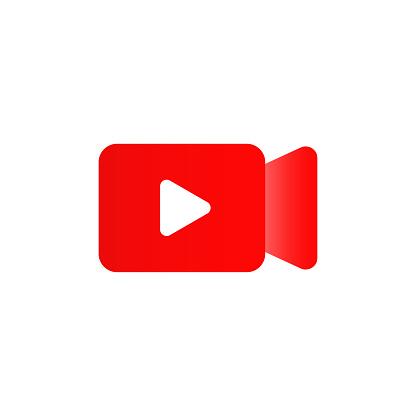 Live camera isolated icon. Vector social media button