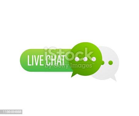 live chat speech bubbles concept. Vector illustration.