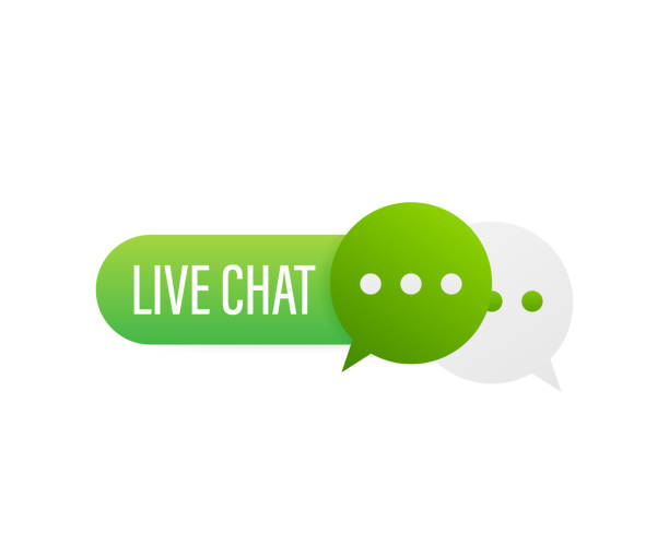 stockillustraties, clipart, cartoons en iconen met live chat toespraak bubbles concept. vector voorraad illustratie. - talking