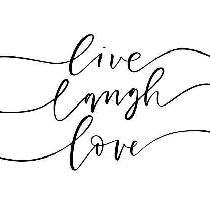 Live, laugh, love card. clipart