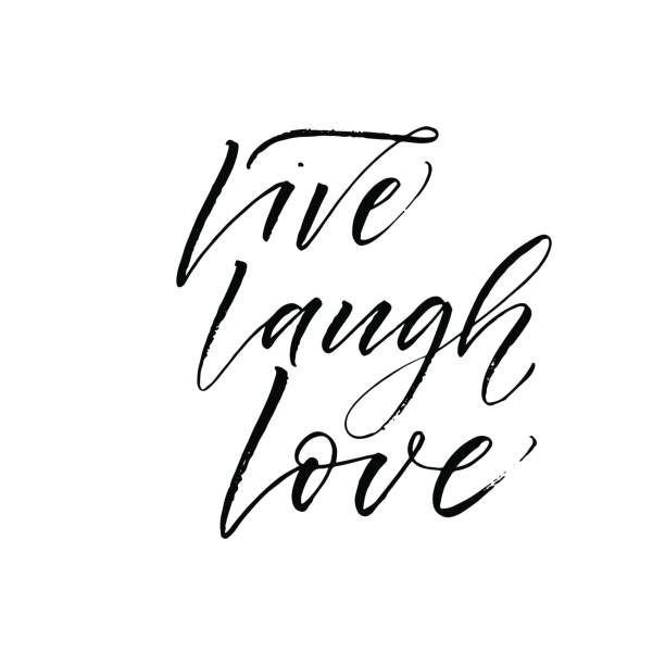 Download Drawing Of The Live Laugh Love Quote Illustrations ...