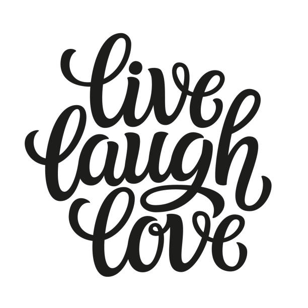 Download Live Laugh Love Sign Illustrations, Royalty-Free Vector ...