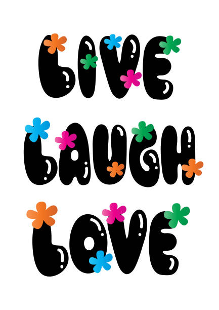 Download Live Laugh Love Drawing Illustrations, Royalty-Free Vector ...