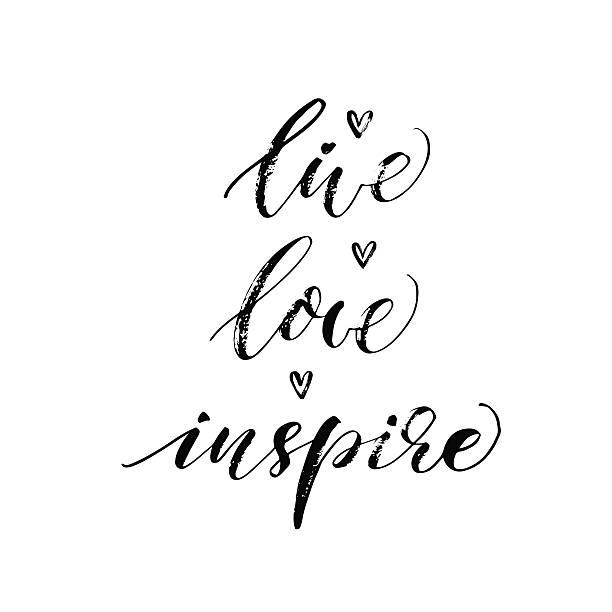 ilustrações de stock, clip art, desenhos animados e ícones de viva, amor, inspirar frase. - writing ideas