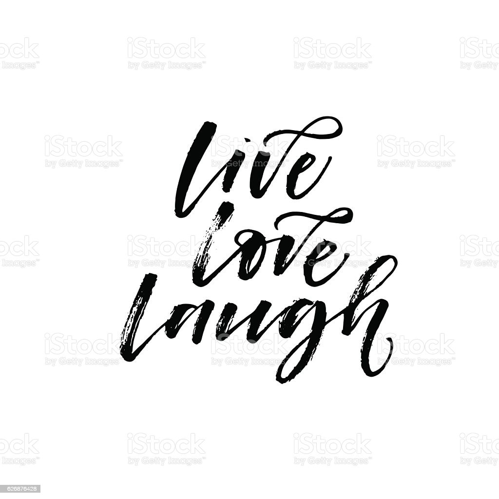live love laugh phrase stock vector art more images of. Black Bedroom Furniture Sets. Home Design Ideas