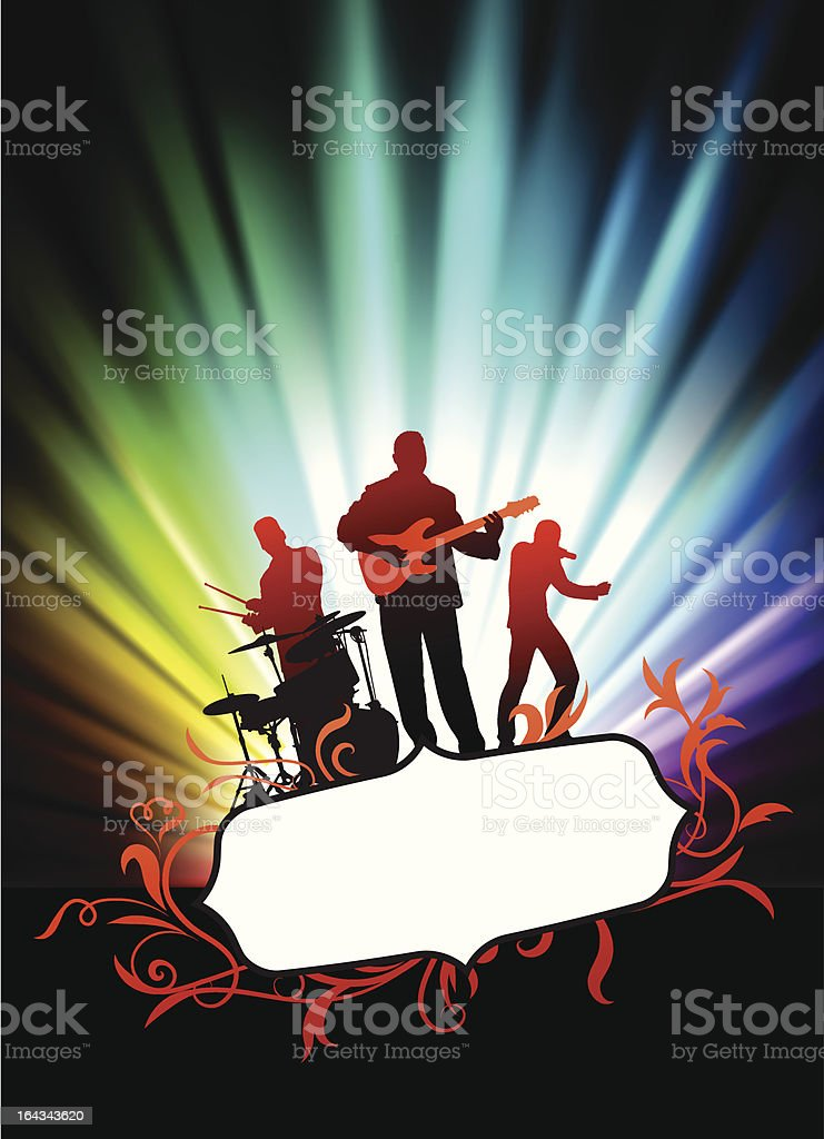 Live Music Band on Tropical Frame with Spectrum Background royalty-free live music band on tropical frame with spectrum background stock vector art & more images of abstract