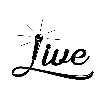 live music calligraphy design