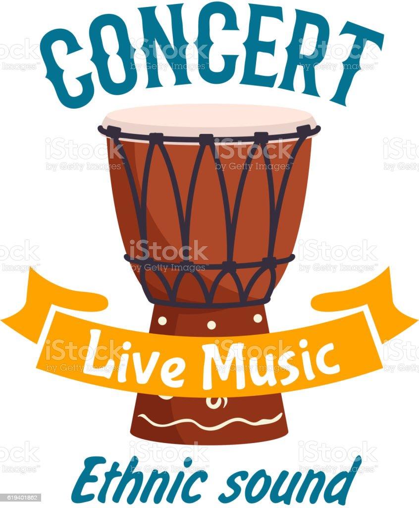 Live music concert isolated vector label emblem vector art illustration