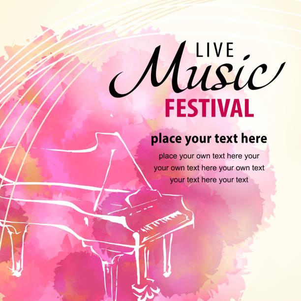 live music piano - piano stock illustrations