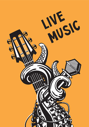 Live Music Stock Illustration - Download Image Now