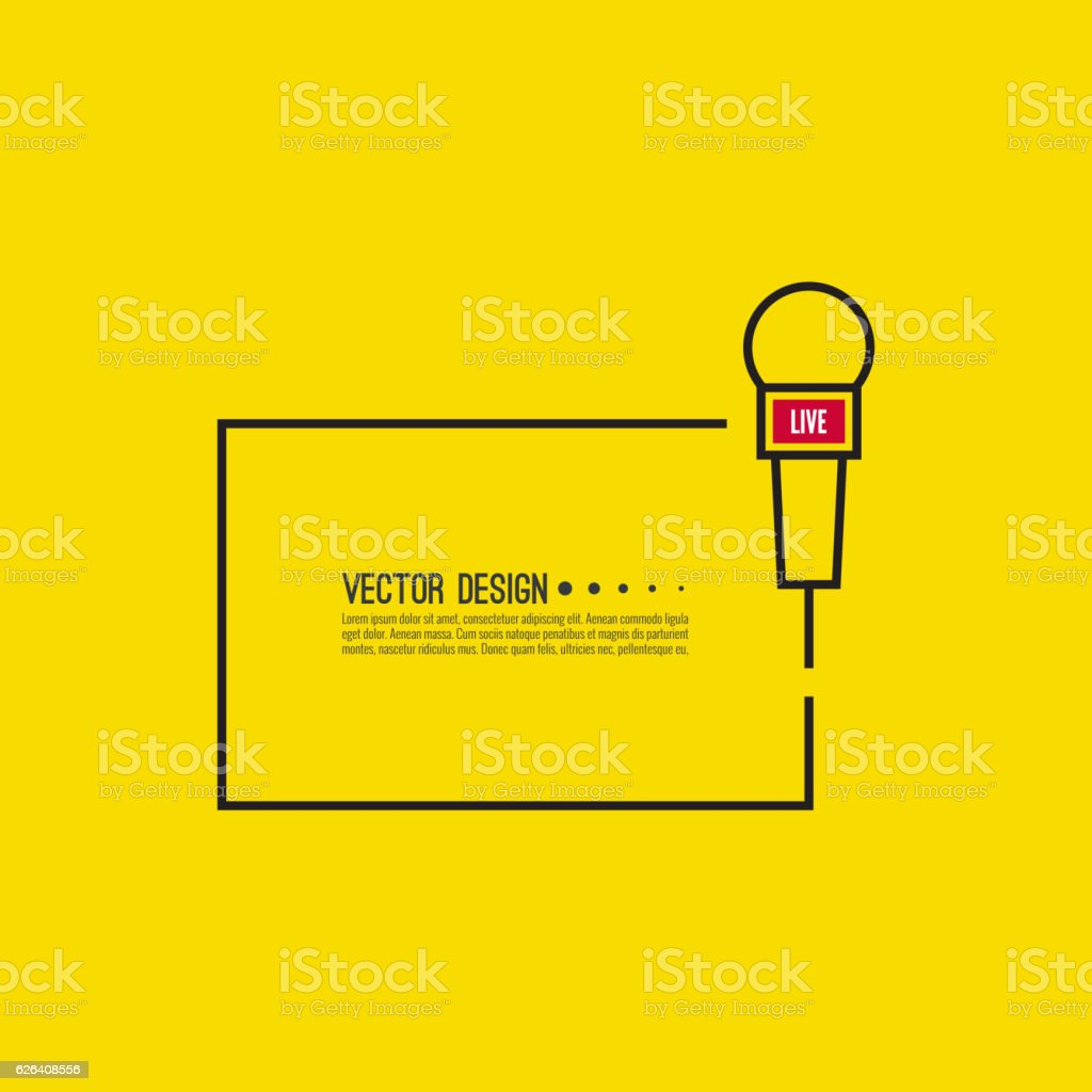 Live news template vector art illustration