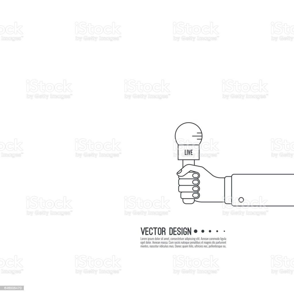 Live news template vector art illustration